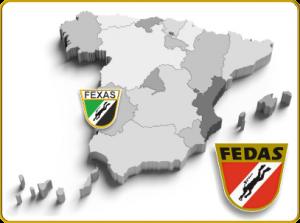 Mapa Centros de Buceo FEDAS