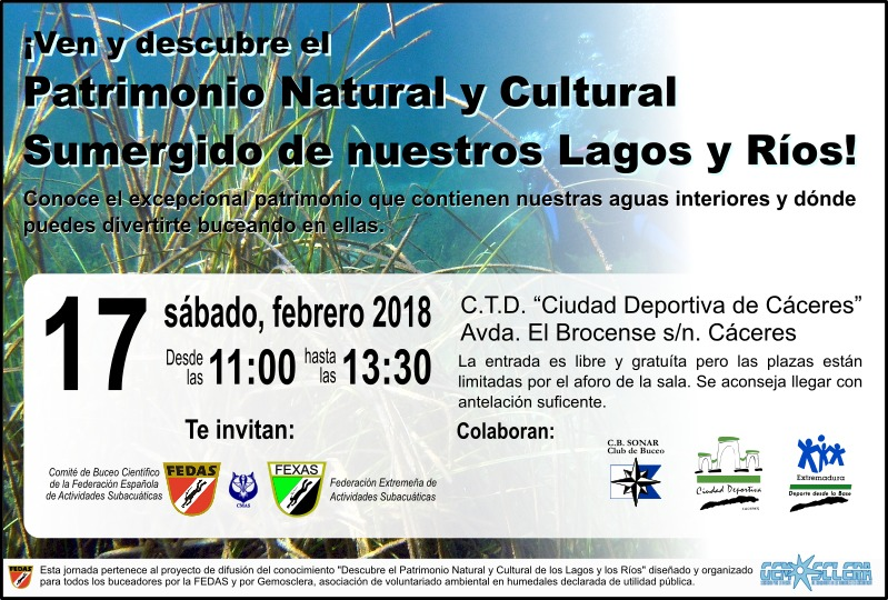 4516b857350f3 Jornada Patrimonio Natural y Cultural sumergido | FEXAS